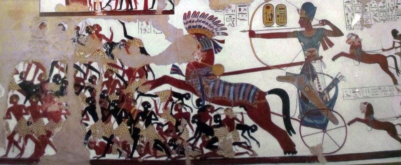 Battle of Nubia Painting