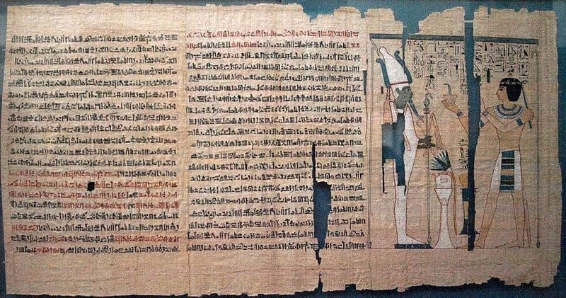 Book after death Egypt Painting