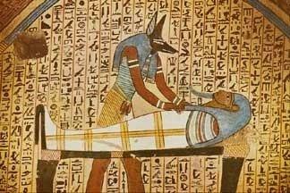 Mummification paintinngs ancient Egypt