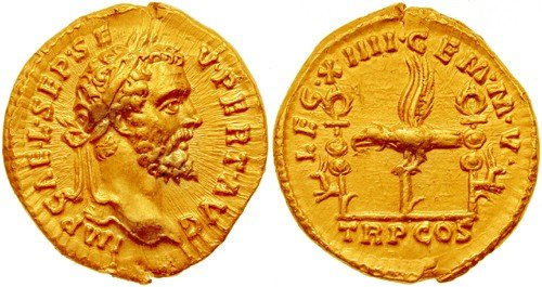 Roman coin, the aureus