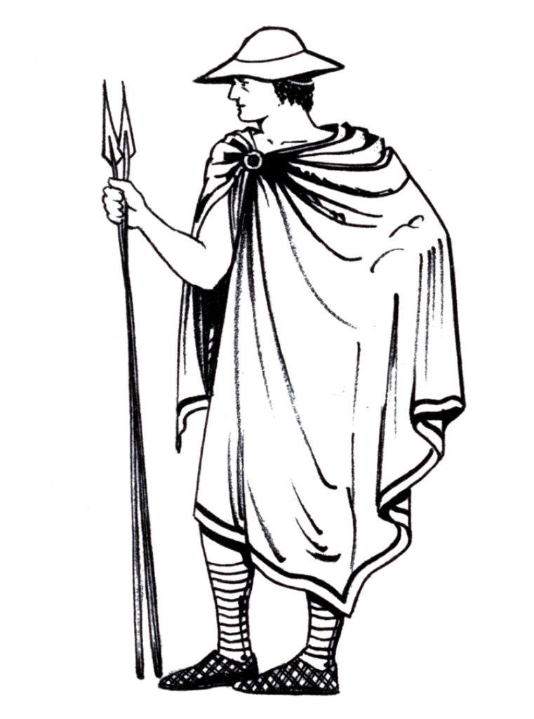 Chlamys ancient greece clothes