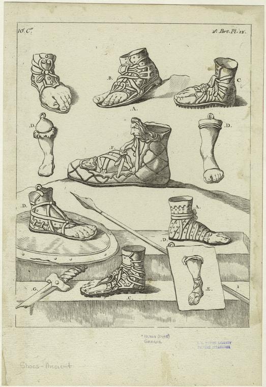 footwear in ancient greece
