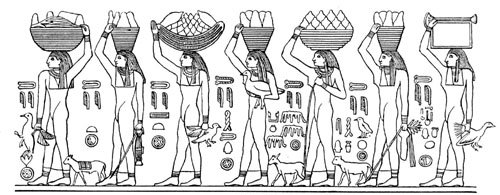 vegetables in ancient egypt