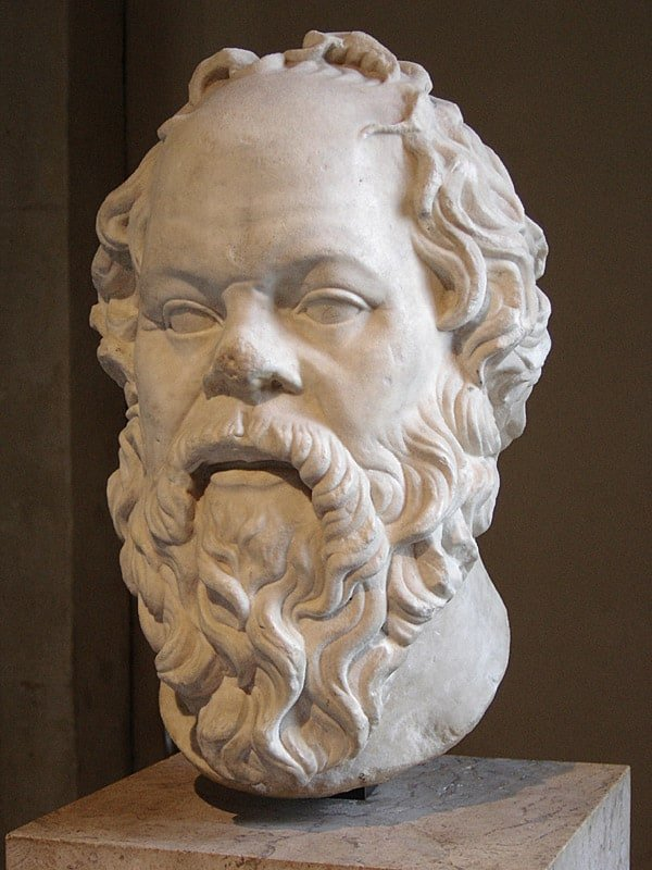 Socrates, Louvre: Greek philosopher