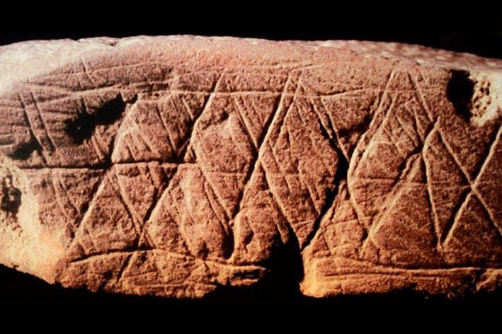 Blombos cave engravings