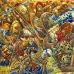 Battle of Platea (479 BC) between Greek and Persian