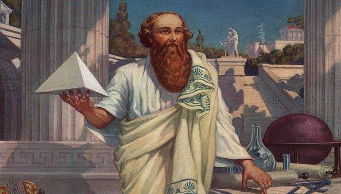 Greek philosopher Pythagoras