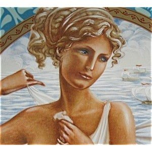Aphrodite, the Greek goddess of love