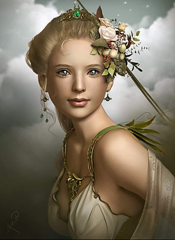 Goddess of harvest and grain, Demeter