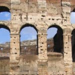 Costrom arches building ancient rome
