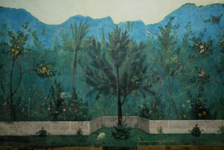 Fresco wall from house of Livia