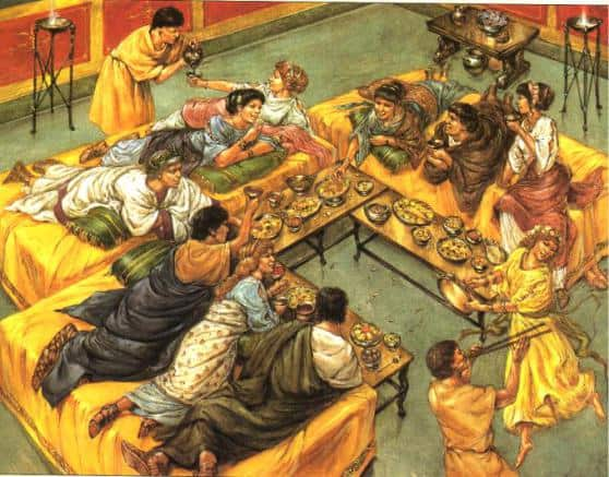 rich dine in ancient rome
