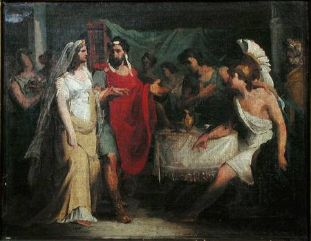 The Wedding of Alexander the Great (356-323 BC) and Roxana,
