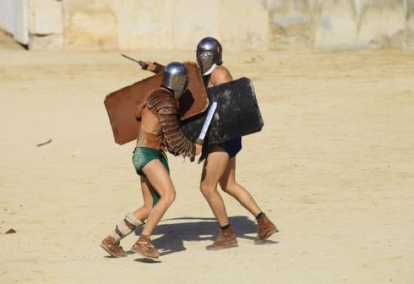 Tetraites, Roman gladiator