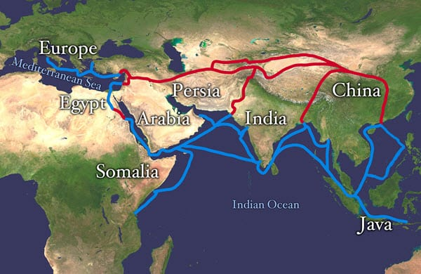 silk road chinese invention