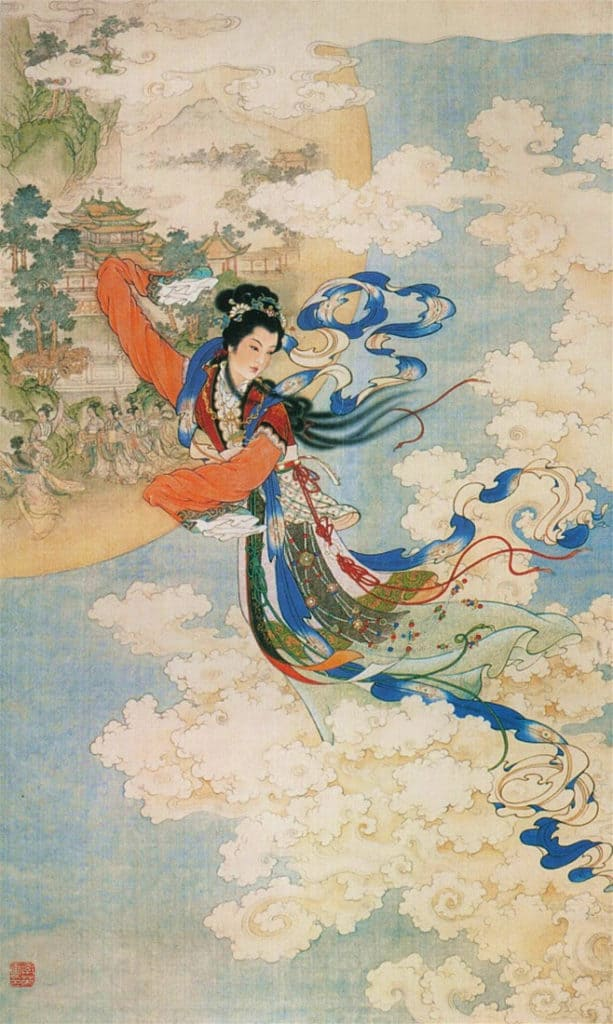 Chinese goddess of the moon, Chang-O