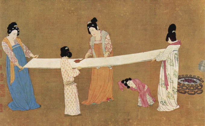 Ancient Chinese silk