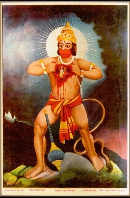 Hanuman, the monkey god