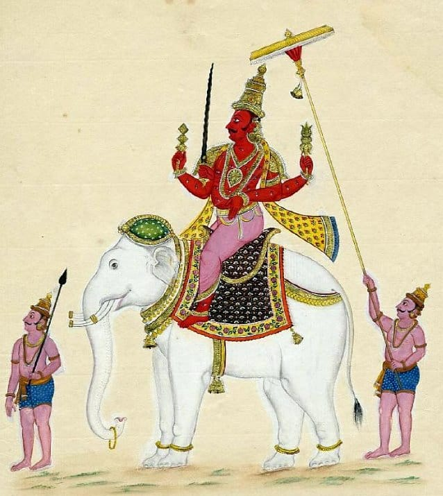 Indra Dev the hindu god of rain