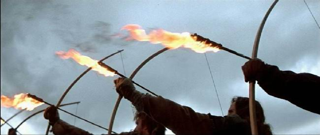 flaming fire arrow