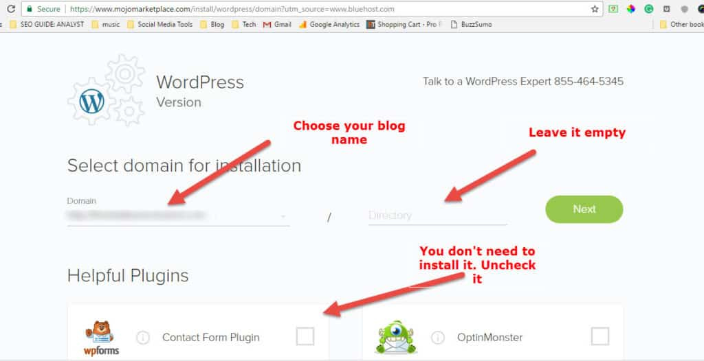 install wordpress history blog