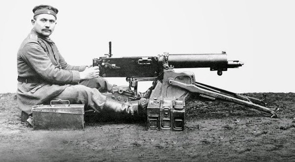 The Maxim MG 08 machine gun