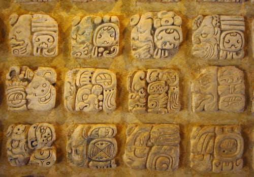 Mayan writing system