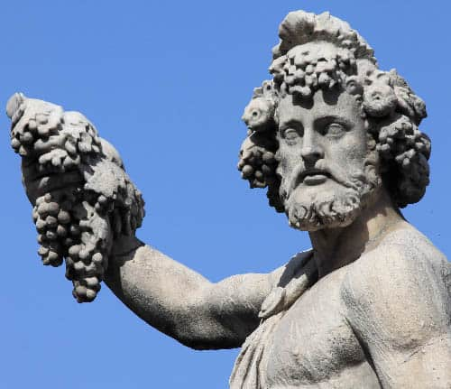 Bacchus, the Roman god of wine and fertility