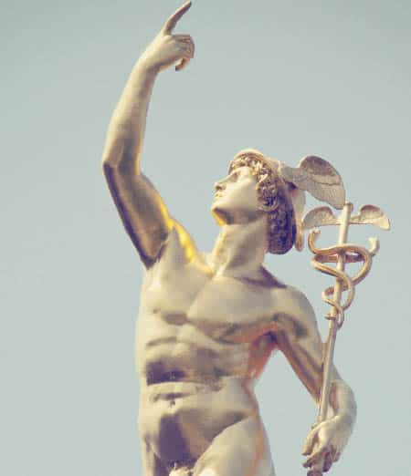 Mercury, the God of financial gain, poetry, and eloquence