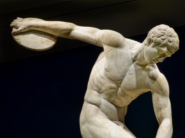 Discus throw, ancient Greece games