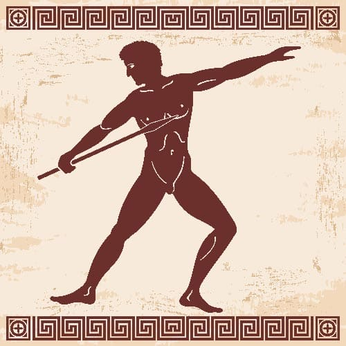 Javelin throwing, ancient Greece games
