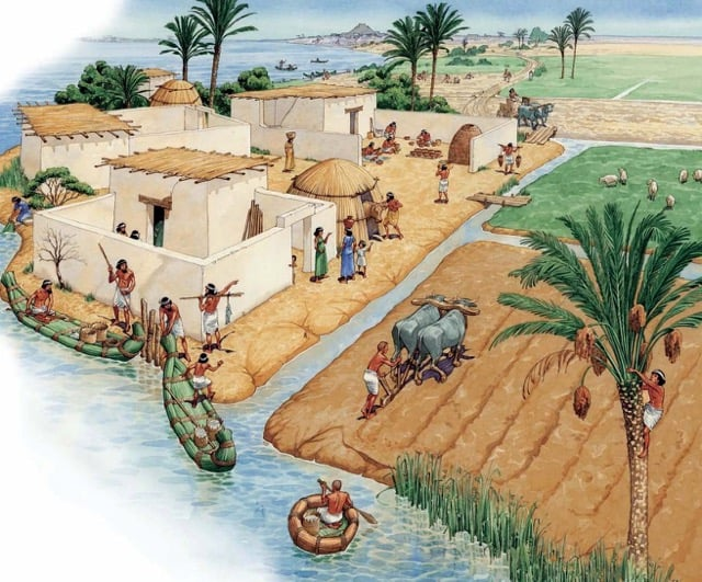 The Sumerians form the first towns and cities