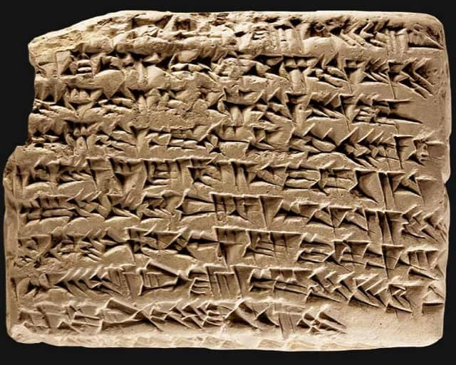 First form of writing: cuneiform