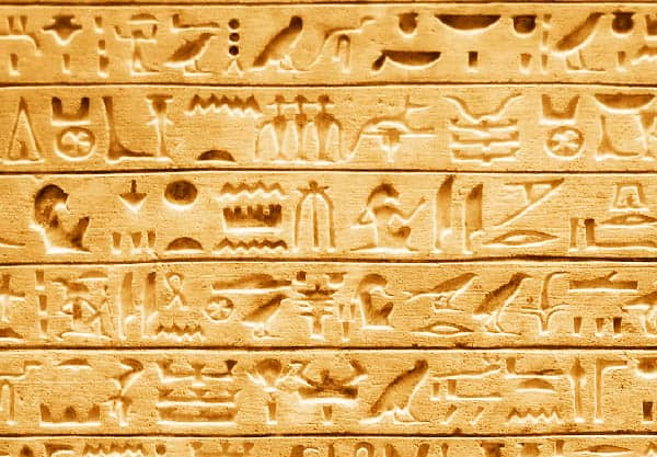 Hieroglyphs ancient egypt