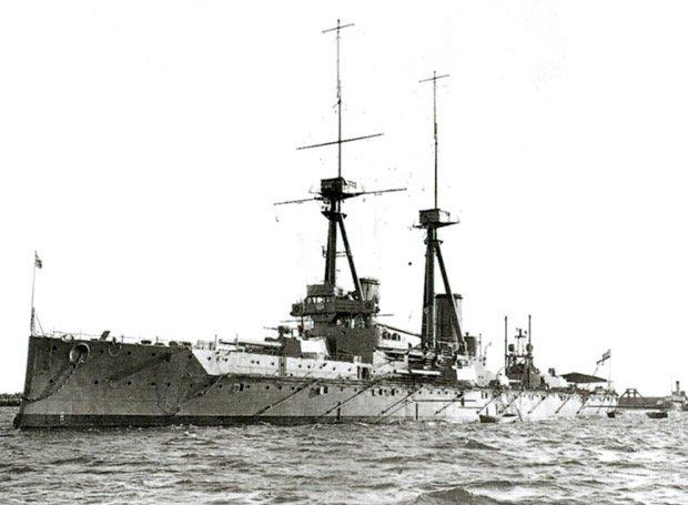 HMS_Bellerophon_1909