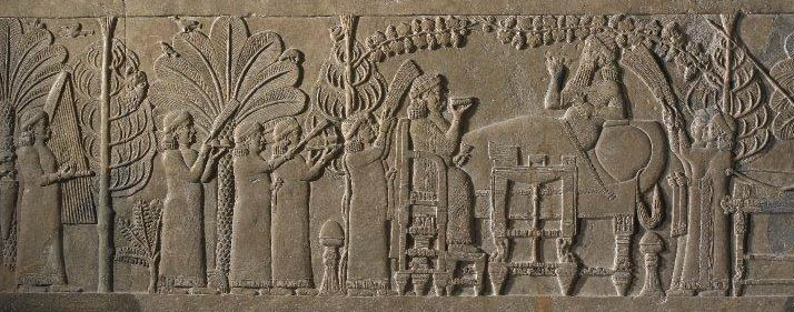 Ashurbanipal and His Queen in the Garden