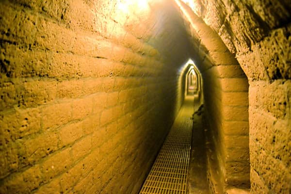 Tunnels inside pyramids