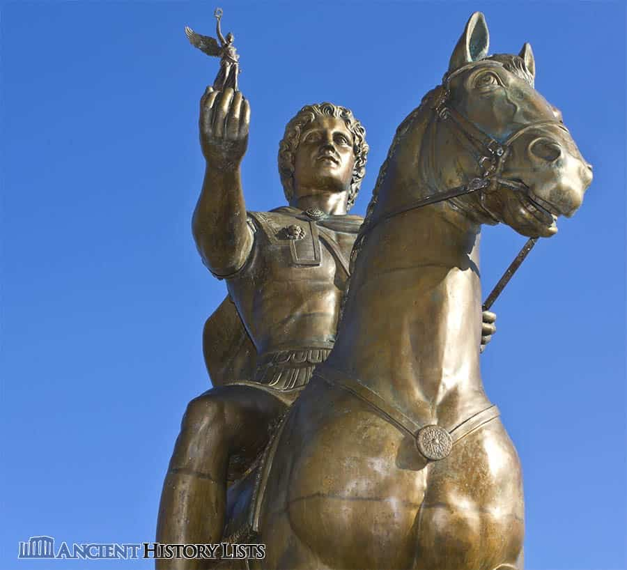 Alexander the Great statue at Pella Palace