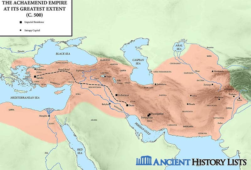 Map of ancient Persia empire