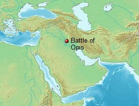 The battle of Opis location