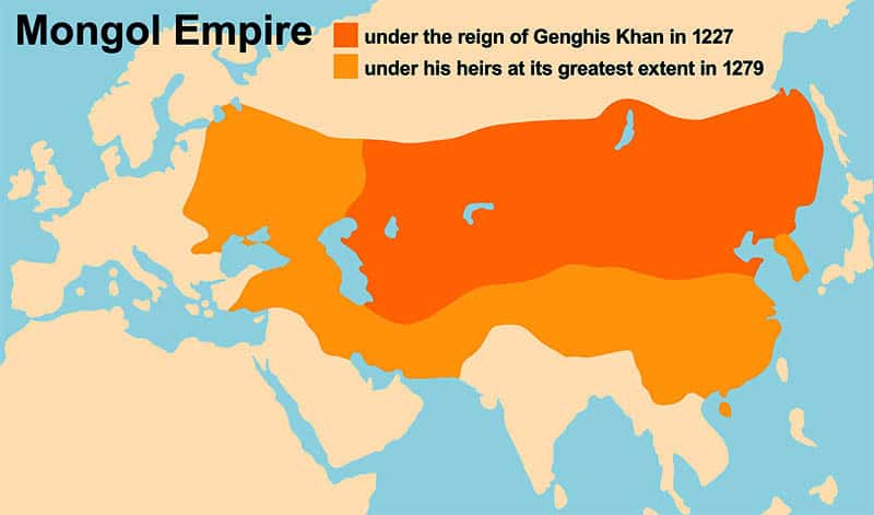 Mongol empire under Genghis Khan