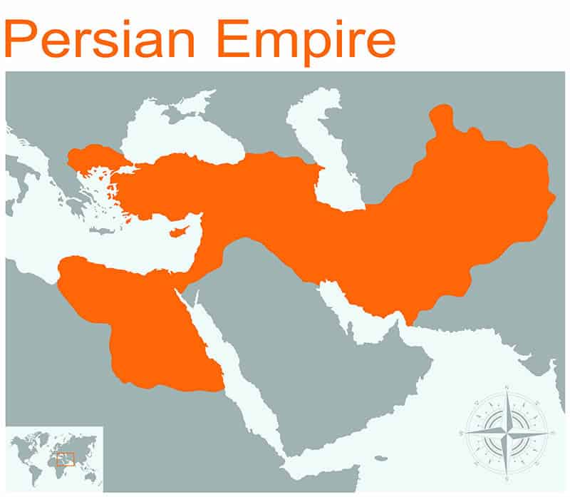 Map of persian empire