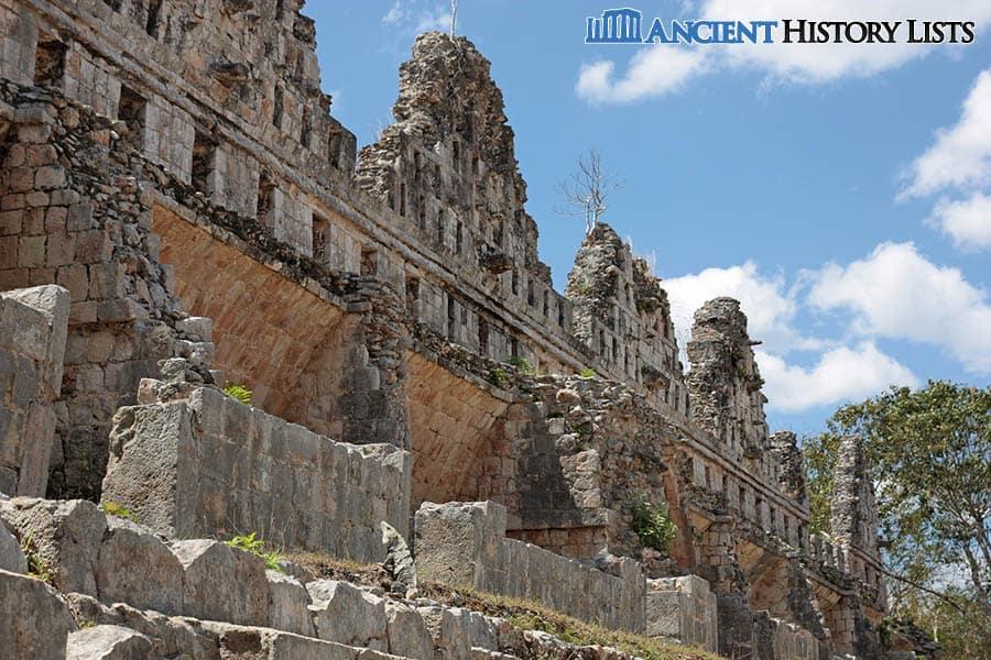 Ancient Maya pigeon house in Uxmal