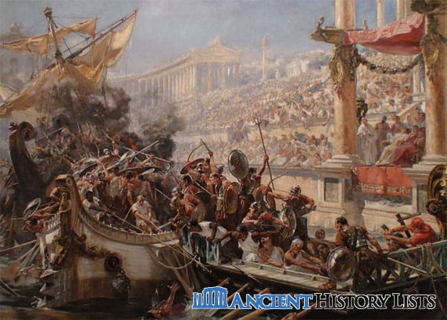 Naval battle by roman gladiators